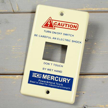 スイッチやコンセントをおしゃれ アメリカンにドレスアップ マーキュリー 爆買い新作 スイッチプレート スイッチカバー コンセントカバー コンセントプレート スチール製 メール便OK 特売 _MC-MESWPL1I-MCR MERCURY アメリカン雑貨 1ヶ口 アイボリー オシャレ アメリカ
