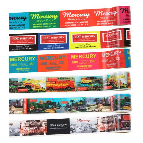 ツールやキャビネット 卓抜 スーツケースなど使い方はあなた次第 マーキュリー 雑貨 テープ 養生 おしゃれ 旅行かばん スーツケース デコレーション バースデー 記念日 ギフト 贈物 お勧め 通販 プロテクションテープ_MC-ME-MCR YOJO-MCR リメイク アメリカ DIY アメリカン雑貨 梱包