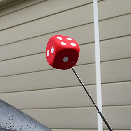 天线球天线短大衣车美国汽车用品汽车配饰色子骰子红_AT-IG015RDD-MON
