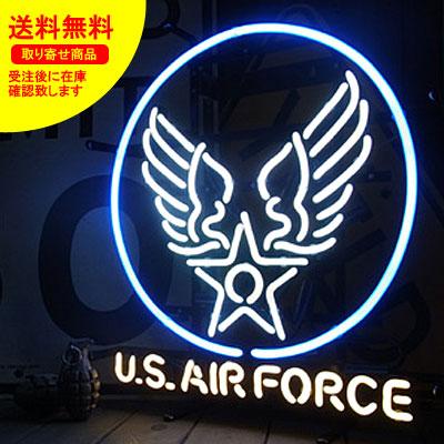 ネオンサイン ネオン 看板 電飾看板 ライト インテリア アメリカン 店舗 ショップ 世田谷ベース ミリタリー アメリカ空軍 US AIR FORCE 2_NS-011-SHO