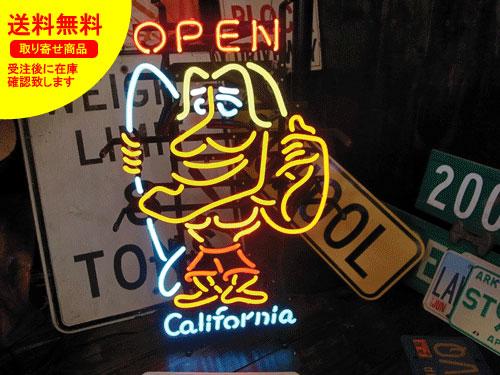 ネオンサイン ネオン 看板 電飾看板 ライト インテリア アメリカン 店舗 ショップ サーフィン サーフボード CALIFORNIA OPEN_NS-037-SHO