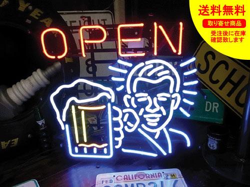 ネオンサイン ネオン 看板 電飾看板 ライト インテリア アメリカン 店舗 ショップ OPEN 居酒屋 ビール 酒 アルコール バー クラブ OPEN BEER_NS-079-SHO