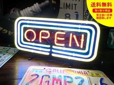 ネオンサイン ネオン 看板 電飾看板 ライト インテリア アメリカン 店舗 ショップ OPEN FRAME サイズS_NS-080-SHO