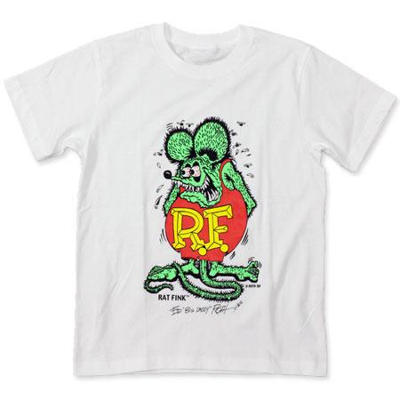 ド定番のラットフィンクTシャツ 正規逆輸入品 まずは1枚ほしいでしょう ラットフィンク Tシャツ RAT 信頼 ホワイト カラーフィンク メール便OK _TS-RIT001WH-MON FINK