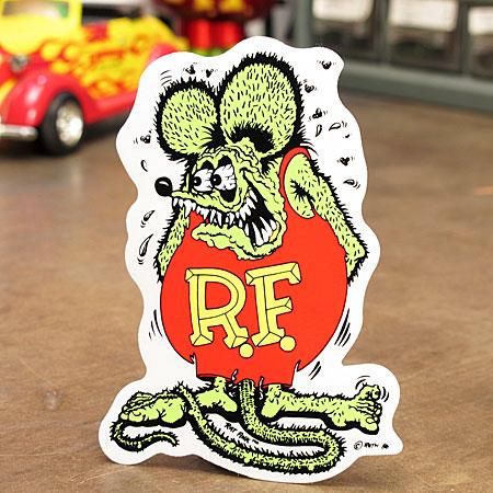 ラットフィンクのスタンダードステッカー まずはコレからです ラットフィンク ステッカー 車 アメリカン キャラクター おしゃれ おトク バイク 商店 ヘルメット RatFink かっこいい カーステッカー アメ車 グリーン ねずみ メール便OK _SC-RD002GR-MON ホットロッド サイズS