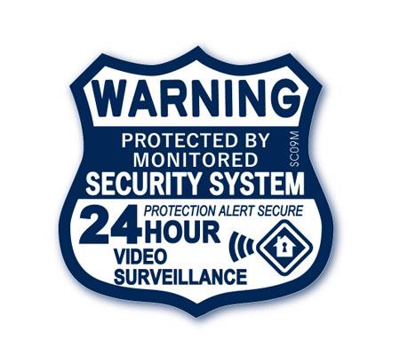 アメリカン オシャレに防犯対策 ダミーステッカーとしても セキュリティ ダミー ステッカー 防犯 かっこいい おしゃれ 窓 シール _SC-SC09M-SXW 世田谷ベース 記念日 玄関 24時間ビデオ監視 特価 警告 メール便OK ガレージ