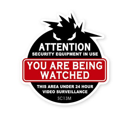 アメリカン オシャレに防犯対策 ダミーステッカーとしても セキュリティ ダミー ステッカー 防犯 かっこいい おしゃれ 玄関 世田谷ベース ガレージ あなたは監視されています 品質保証 商品 _SC-SC13M-SXW 窓 シール メール便OK 注意