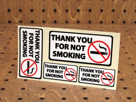 アメリカの日常で見かける注意書きや案内表示のステッカー ステッカーセット 正規逆輸入品 車 アメリカン インテリア サイン 表示 ギフト メール便OK _SC-PSV1-LFS おしゃれ 禁煙にご協力ありがとうございます 注意 かっこいい 案内