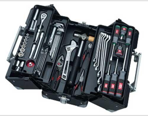 SK3561WGBK KTC 9.5sq 56点組 工具セット(両開きメタルケースタイプ)