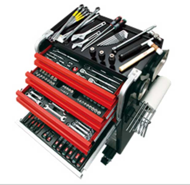 SK8020AEXTQ KTC 6.3sq 9.5sq 12.7sq 工具セット(ローラーキャビネットタイプ) 車上渡し 豪華商品プレゼント
