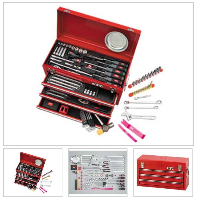SK59620X KTC 赤 6.3sq 9.5sq 96点組 工具セット(チェストタイプ) 豪華商品プレゼント