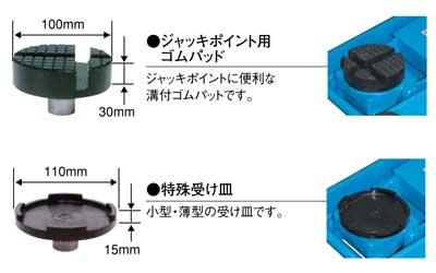 NA-6 ジャッキポイント用ゴムパッド 100mm X 30mm 低床ジャッキ(NLA・NLG)オプション