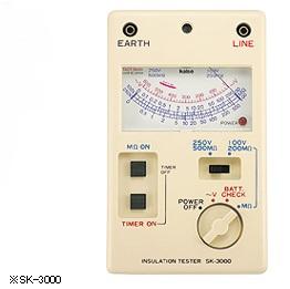カイセ SK-3003 アナログ絶縁抵抗計 (タイマー付き多機能汎用シリーズ)