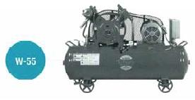 富士コンプレッサー W-55MT 空冷二段タンクマウント形