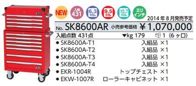 最初の  SK8600AR ハイメカツールセット 赤 赤 431点 431点 SK8600AR 小売参考価格 1070000円 1070000円, パストラルフラワー:d35346ae --- bellsrenovation.com