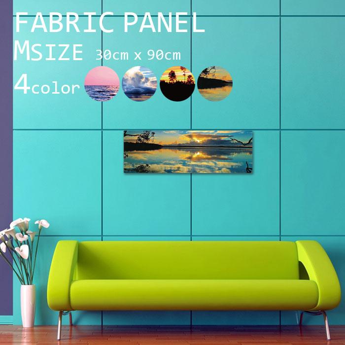 アートパネル ファブリックパネル 90x30cm インテリアアートパネル 空 スカイ 雲 青空 綺麗 青 水色 海