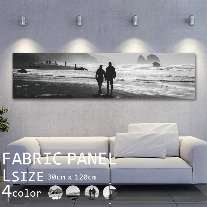 アートパネル モノトーン ファブリックパネル 120x30cm インテリアアートパネル ボード モダン ナチュラル バイカラー デザイン