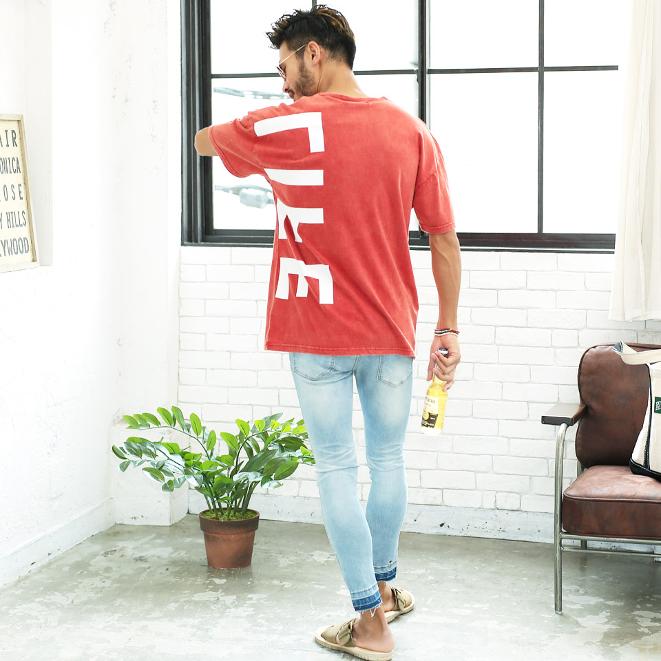 a3c206cc3913 ◇Summer clothes are for summer in spring clothes spring clothing summer in decalogo  powder processing T-shirt ◇ big silhouette T-shirt men fashion T-shirt ...