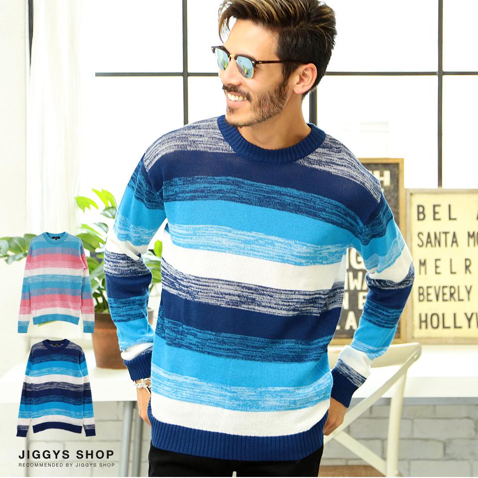 81987e3545e88b ◇Multi-frill cotton hemp long sleeves knit ◇ summer knit men long sleeves  sweater ...