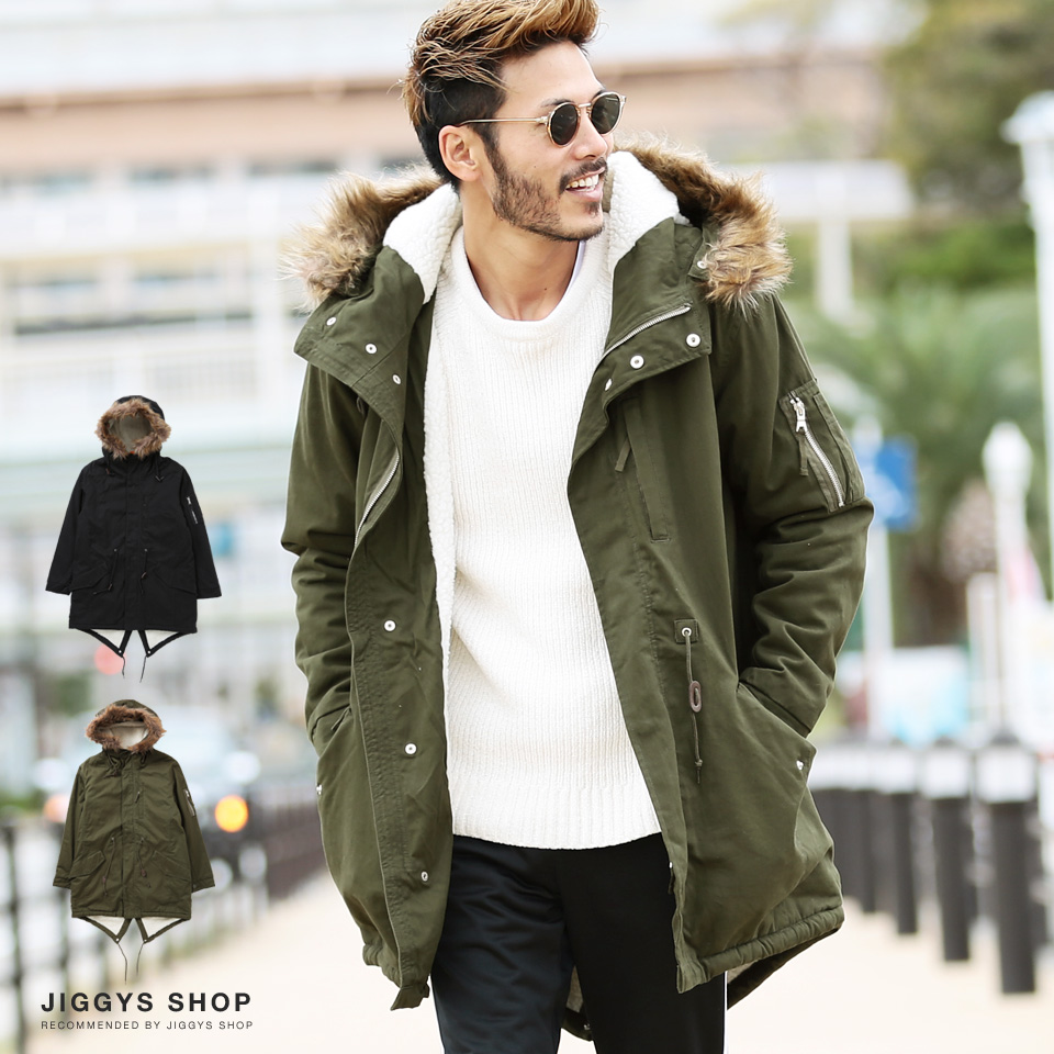 ◆It is the winter clothes winter clothing men fashion warmth or was in  clothes winter in cotton twill peach back boa Mods coat ◆ Mods coat batting