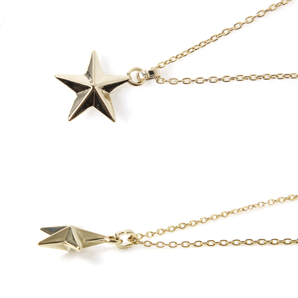 Jiggys shop rakuten global market roshell rochelle star roshell rochelle star shaped necklace necklace mens casual simple chain neck brand pair long necklace fashion gifts men mozeypictures Choice Image