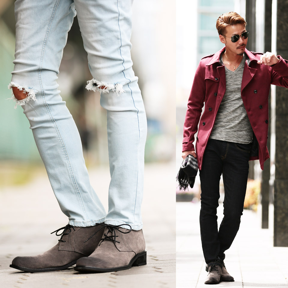◆ Roshell chukka boots ◆ cool style/ Men's boots/ short boots/ black mens shoes/ leather boots/ men's fashion /Engineer Boots /desert boots
