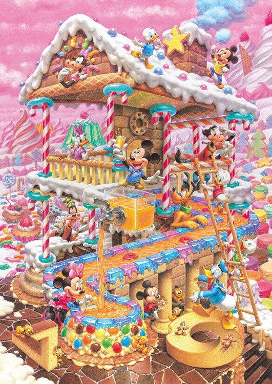 TEN-DPG266-574 ディズニー おかしなおかしの家(オールキャラクター) 266ピース ジグソーパズル