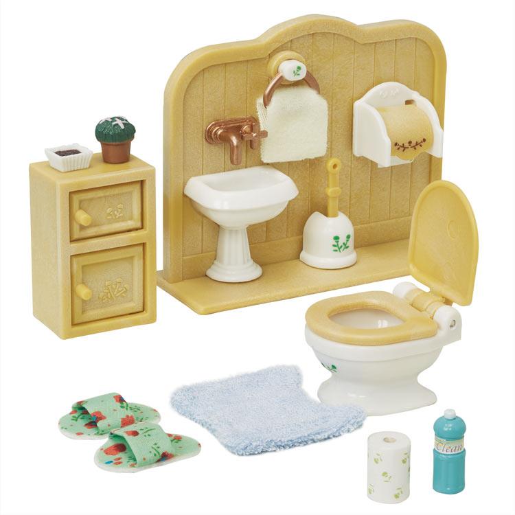カ-606 シルバニアファミリー トイレセット おもちゃ エポック社 [CP-SF] 誕生日 プレゼント 子供 女の子 3歳 4歳 5歳 6歳 ギフト お人形 シルバニア