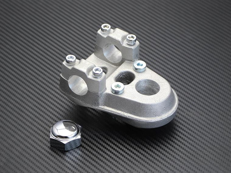 スーパーカブ リトルカブ用 アルミ鋳造 ステムトップ ハンドルセッター トップブリッジ ハンドルポスト アップハンドル