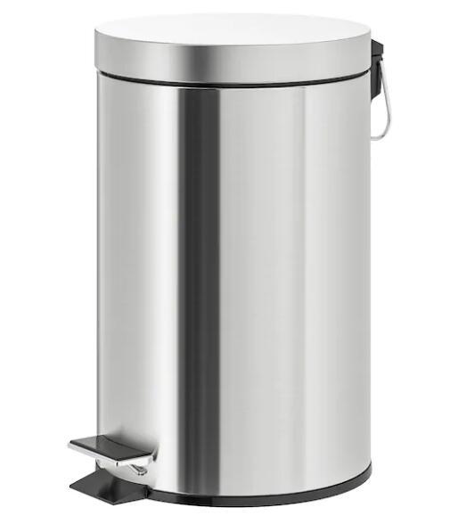 取り外し可能な内バケツ付き 人気商品 IKEA 爆安プライス 至上 イケア lキッチンや洗面所などのゴミ箱に STRAPATS ストラパッツペダル式ゴミ箱ステンレススチール 12
