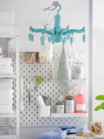 室内 屋外兼用 IKEA イケア セールSALE%OFF 洗濯バサミ16個付 プレッサ物干し用ハンガー 希望者のみラッピング無料 ターコイズ PRESSA