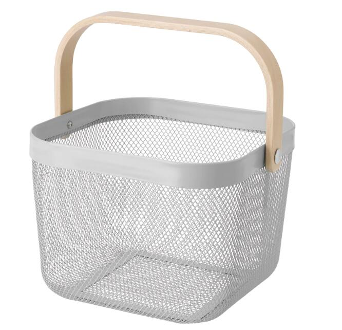 100%品質保証 ディスプレイとしてもおしゃれです 人気カラー IKEA イケア cm グレー25x26x18 リーサトルプバスケット 最安値挑戦 RISATORP