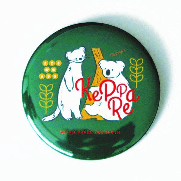 北海道の 売り込み 動物 × 方言 色 オコジョコアラ 缶マグネット をテーマに展開するブランド EZONIMAL 本日の目玉 エゾニマル
