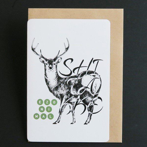 お歳暮 北海道の 動物 × 方言 色 エゾニマル 2020春夏新作 グリーティングカード EZONIMAL をテーマに展開するブランド エゾシカ