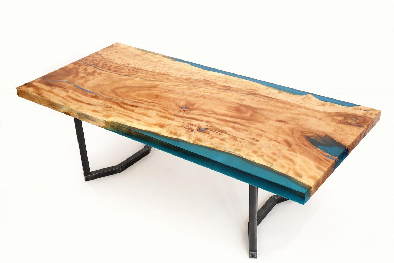 wood-river-board-1【Resin+】【レジンテーブル レジンボード】【ダイニングテーブル】ウッドリバーボードH 2300×W 1050×D 80【栃 樹脂 日本製 Made in japan】【おしゃれ 世界に一点 オーダーメイド対応 テーブル table 天板 樹脂 レジン Resin】