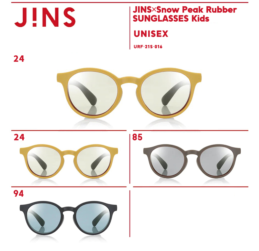 JINS×Snow 新品 Peak Rubber 有名な SUNGLASSES Kids ボストン キッズ ジンズ サングラス JINS