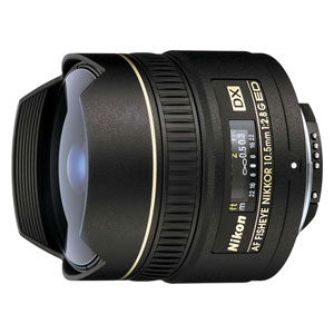 AFDX10.5G ニコン AF DX Fisheye-Nikkor 10.5mm f/2.8G ED ※DXフォーマット用レンズ(24mm×16mm)
