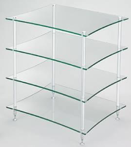 Q4DS/GL クアドラスパイア 透明ガラス棚板・シルバーポール Quadraspire