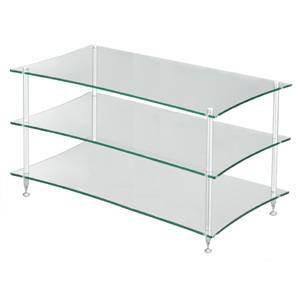 QAVMS/GL クアドラスパイア 透明ガラス棚板・シルバーポール Quadraspire