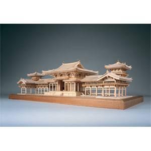 1/75 木製模型 平等院 鳳凰堂(レーザーカット加工) ウッディジョー