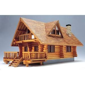 1/24 木製模型 ログハウス ウッディジョー