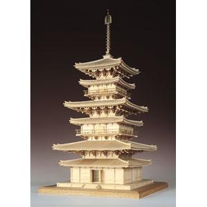 1/75 木製模型 薬師寺 東塔(レーザーカット加工) ウッディジョー