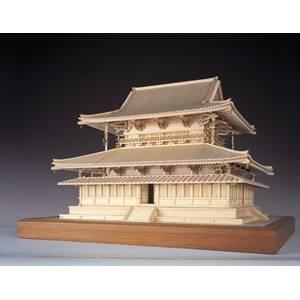 1/75 木製模型 法隆寺 金堂 ウッディジョー