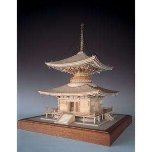 1/50 木製模型 石山寺 多宝塔(レーザーカット加工) ウッディジョー