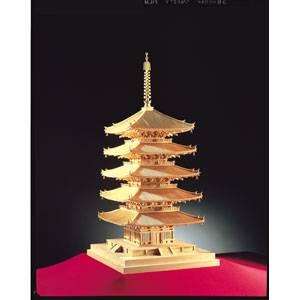 1/75 木製模型 興福寺 五重の塔(レーザーカット加工) ウッディジョー