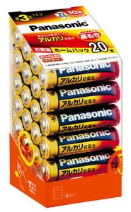 LR6XJ/20SH パナソニック アルカリ乾電池単3形 20本パック Panasonic [LR6XJ20SH]