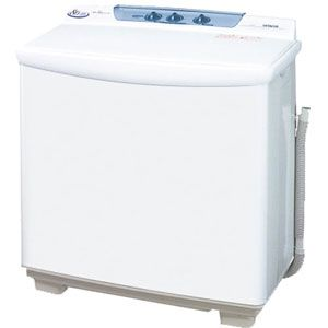 _ (標準設置料込)PS-80S-W 日立 8.0kg 2槽式洗濯機 ホワイト HITACHI 青空