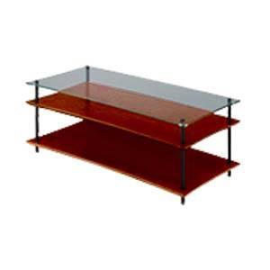 QAVMB/DOGL クアドラスパイア ダークオーク棚板+透明ガラス棚板・ブラックポール Quadraspire