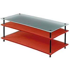 QAVMB/CHBG クアドラスパイア チェリー棚板+スリガラス棚板・ブラックポール Quadraspire