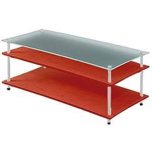 QAVMS/CHBG クアドラスパイア チェリー棚板+スリガラス棚板・シルバーポール Quadraspire